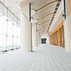 Stafford commercial cleaning cleaned office building hallway