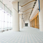 Commercial cleaning service example of cleaned downtown Houston hallway